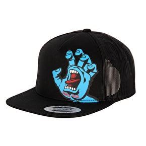 Santa Cruz Screaming Hand Mesh Snapback Cap - Black