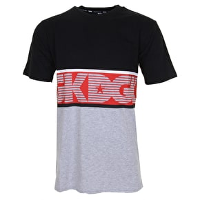 DGK Hang Time Custom T-Shirt - Black/Athletic Heather