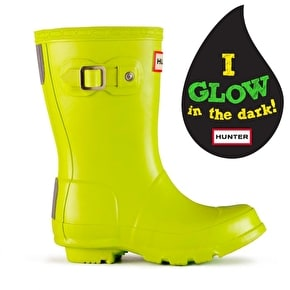 Hunter Kids Original Wellington Boots - Glow In The Dark