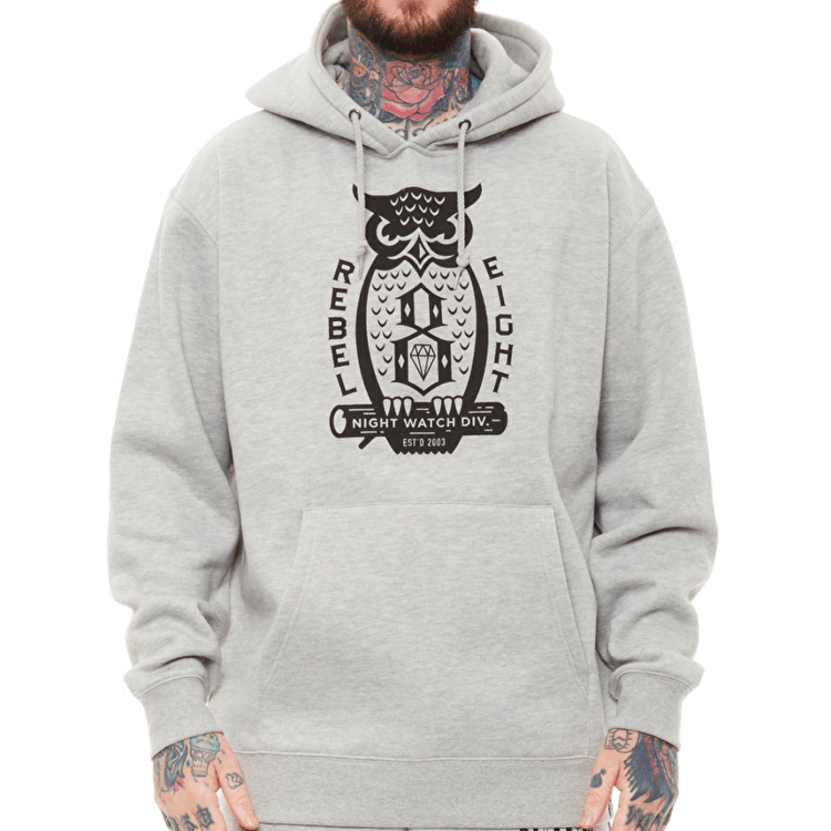 Rebel8 Night Watch Hoodie - Heather Grey