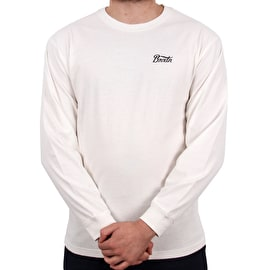 Brixton Potrero Standard Long Sleeve T Shirt - Off White