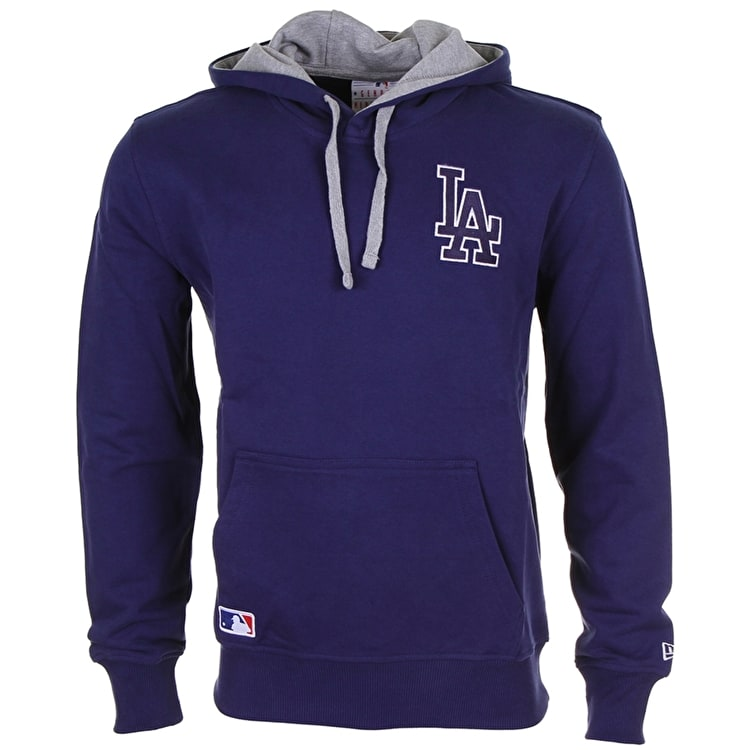 B-Stock New Era MLB Team Hoodie LA Dodgers SML (Frayed cord)