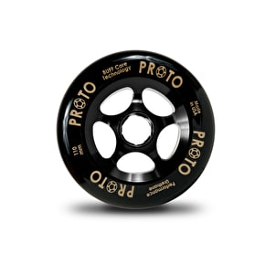 PROTO 110mm Gripper Wheel - Black on Black