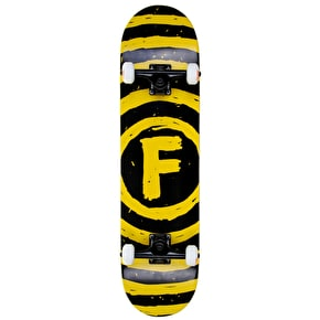 Foundation Vertigo Sketch Custom Skateboard - Cheapshots Black/Yellow 7.75