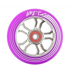 Grit Ultra Light 100mm Scooter Wheel x 1 w/ABEC 9 Bearings - Purple/Titanium