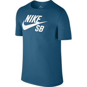 Nike SB Logo T-Shirt - Industrial Blue/White