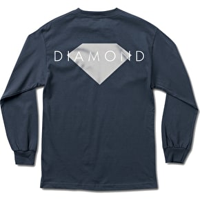 Diamond Solid Longsleeve T-Shirt - Navy