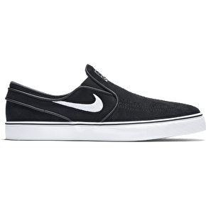 Nike SB Zoom Stefan Janoski Slip-On Shoes - Black/White