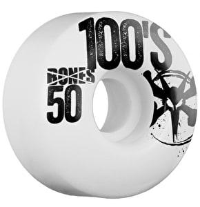 Bones Skateboard Wheels - OG 100's #8 White 50mm