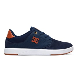 DC Plaza TC Skate Shoes - Navy/Dark Chocolate