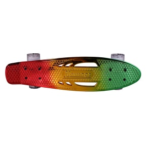 Karnage Chrome Retro Skateboard - Red/Yellow/Green