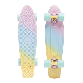 Penny Fades Complete Skateboard - Purple/Blue/Yellow 22