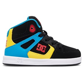 DC Rebound UL Toddlers Skate Shoes - Black/Multi/White