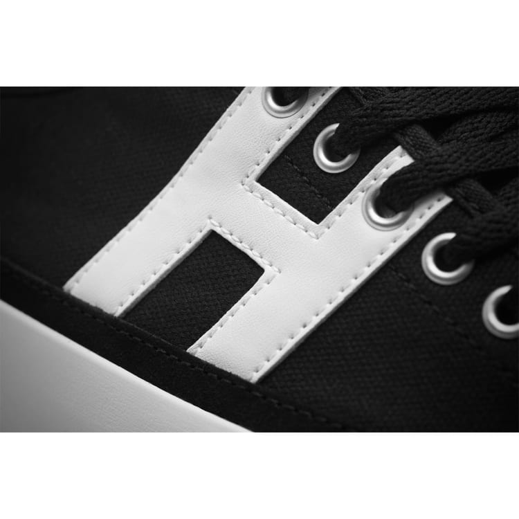 Huf Hupper 2 Lo Skate Shoes - Black/White