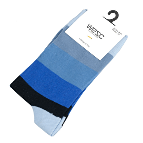 WeSC Multi Socks - Blue Iris