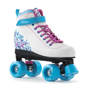 B-Stock SFR Vision II Roller Skates - White/Blue UK 4 (Box Damage)