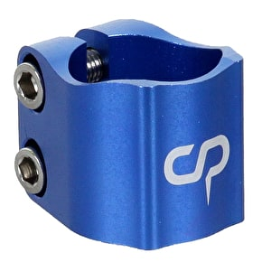 Crisp 2016 Oversized Double Collar Clamp - Anodized Blue