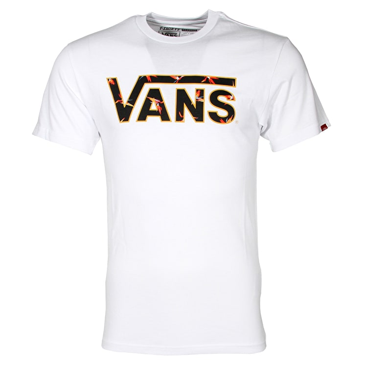Vans Classic Logo Fill T-Shirt - White/Trouble In Paradise