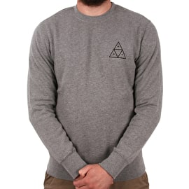 Huf Essentials TT Crew Neck - Heather Grey