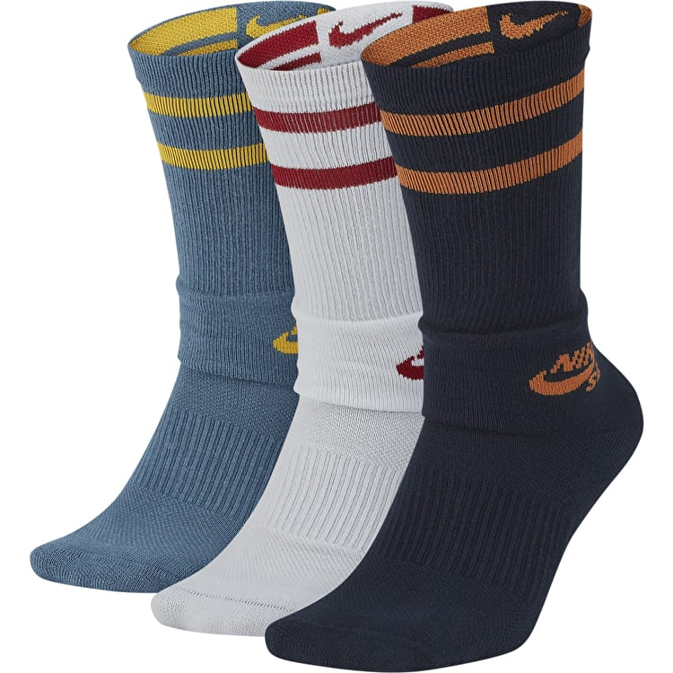 Nike SB Crew Socks - Multi (3 Pack)