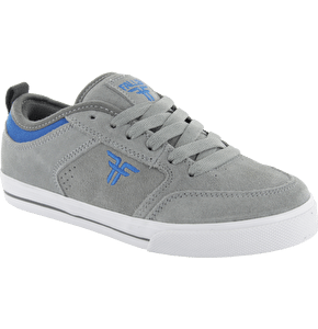 Fallen Kids Clipper Skate Shoes - Cement Grey/Blue