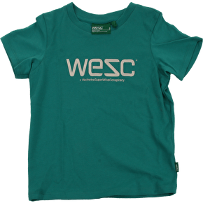 WeSC Unisex Kids T-Shirt - Green Lake