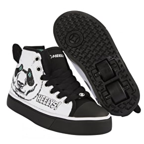 B-Stock Heelys X2 Zoo Series - Panda - Junior UK 12 (wheels opened)