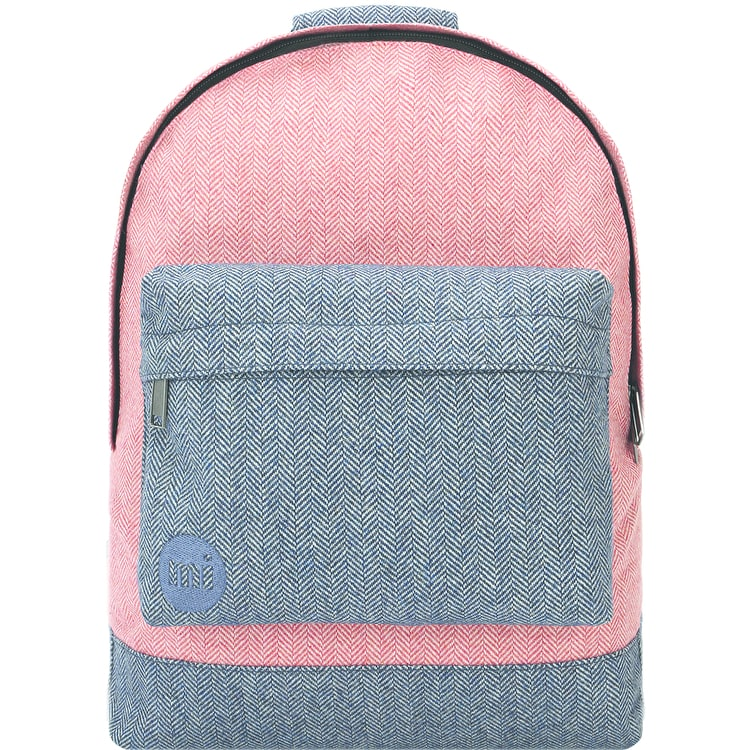 Mi-Pac Herringbone Mix Backpack - Terracotta/Navy