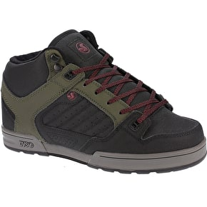 DVS Militia Boots - Olive/Black Leather/Ferguson