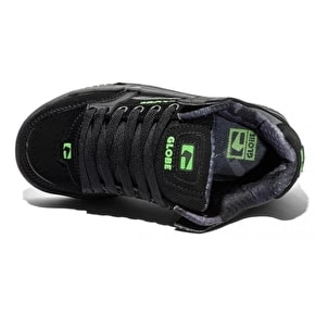 Globe Kids Tilt Skate Shoes - Black/Camo/Moto Green