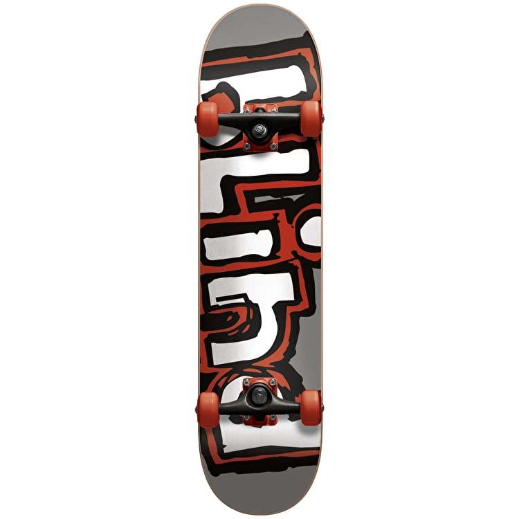 Blind Matte OG Logo Complete Skateboard w/Stocking- Silver/Red 7.75""