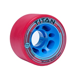 Sure-Grip Titan 59mm Quad Derby Wheels 95a- Red