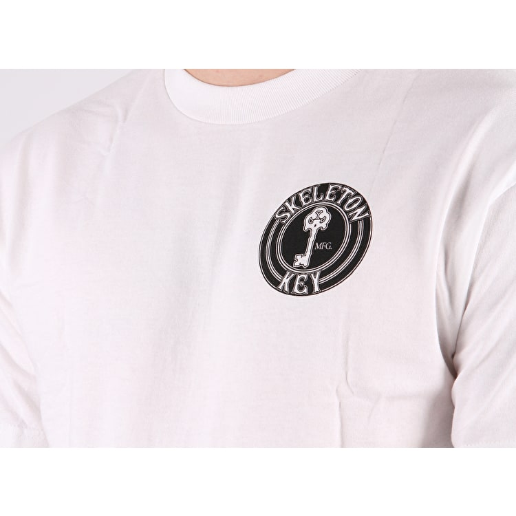 Skeleton Key Dot T Shirt - White