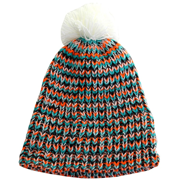 New Era Tech Knit Bobble Hat- Fleck over weave