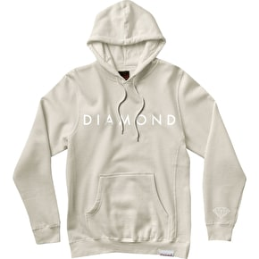 Diamond Facet Tonal Hoodie - Cream