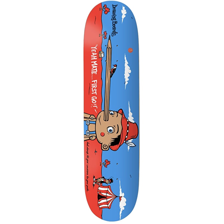 Drawing Boards Conscience Pinocchio Skateboard Deck - 8""