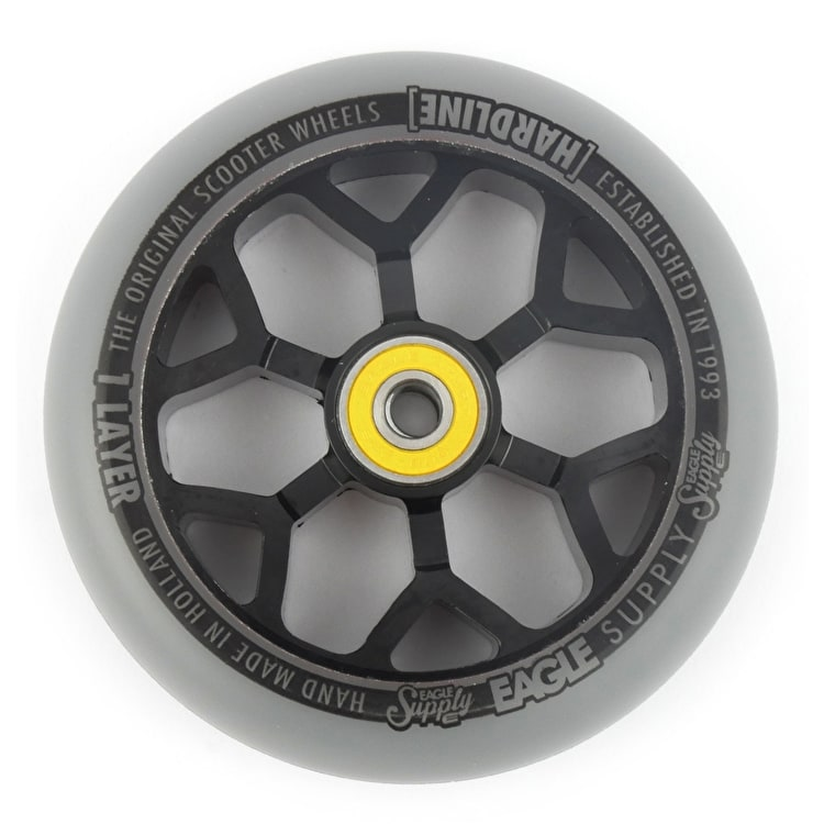 Eagle Sport Hardline 1-Layer 6M Sewercaps Scooter Wheel - Grey/Black 110mm