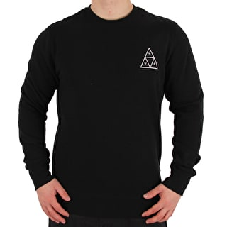 Huf Triple Triangle Crewneck - Black