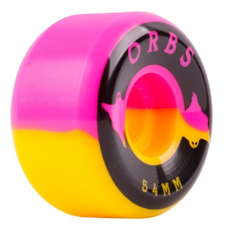 Welcome Orbs Specters Skateboard Wheels 54mm - Pink/Yellow