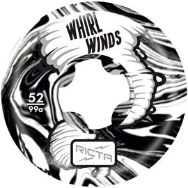 Ricta Whirlwinds 99a Skateboard Wheels - Black 52mm (Pack of 4)