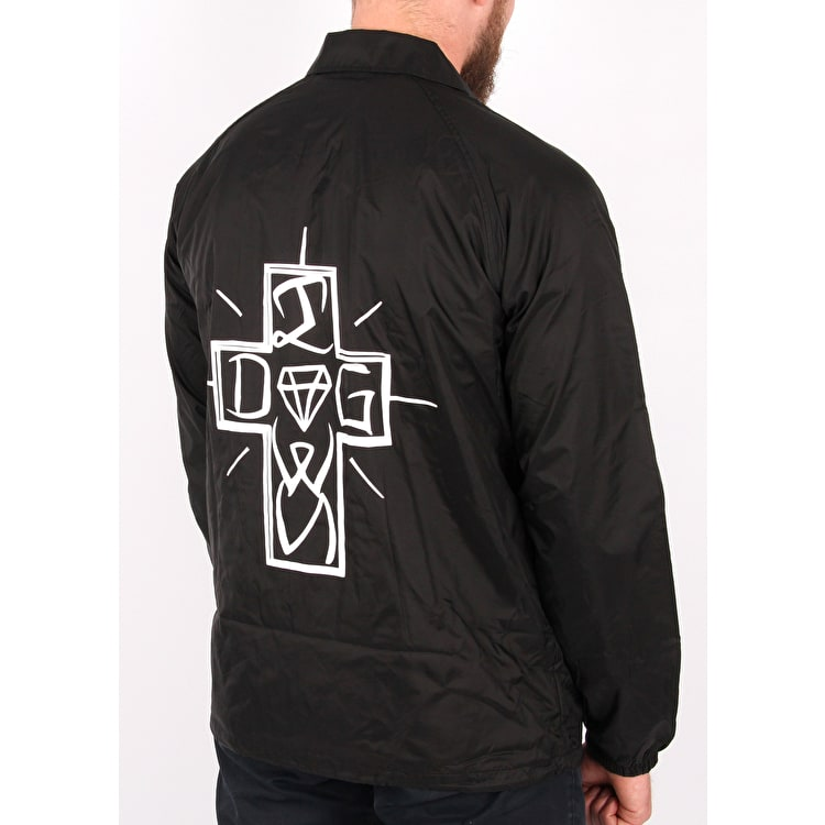 Diamond x Dogtown Diamond Dog Coaches Jacket - Black