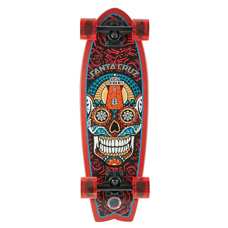 Santa Cruz Land Shark Sugar Skull Complete Cruiser Skateboard - 27.7""
