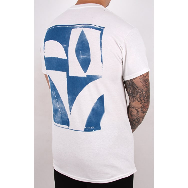 Isle Cyanotype T Shirt - White