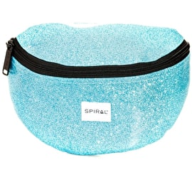 Spiral Platinum Bum Bag - Glitter Jelly Blue