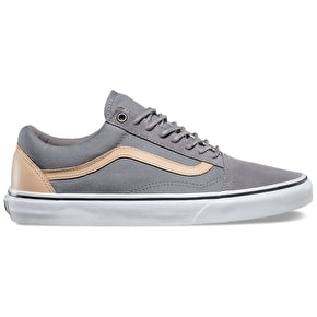 Vans Old Skool Skate Shoes - (Veggie Tan) Frost Grey/True White