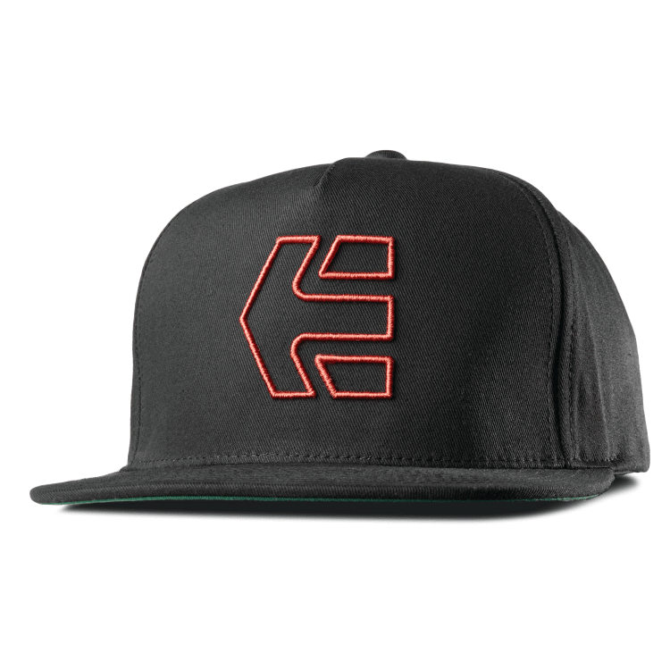 Etnies Icon 7 Snapback Cap - Black/Red