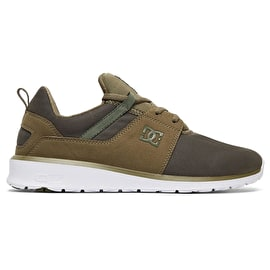 DC Heathrow Skate Shoes - Olive Night/White
