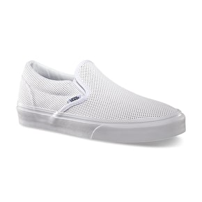 Vans Classic Slip-On Shoes - (Perf Leather) White