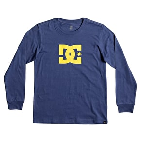 DC Star Longsleeve Kids T-Shirt - Washed Indigo