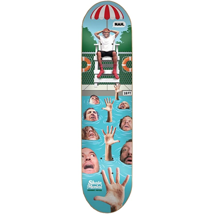 Skate Mental Pro Skateboard Deck - Pryor 8""